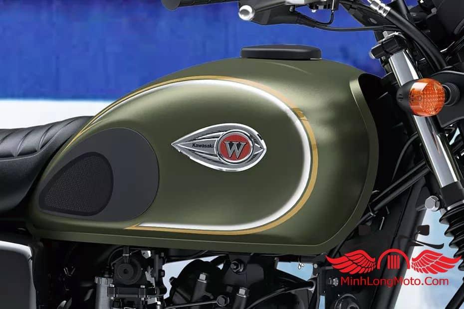 Bình xăng hình giọt nước của moto w175 kawasaki