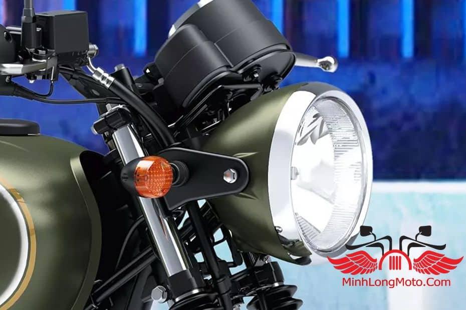 đèn xe tròn của kawasaki w175 se