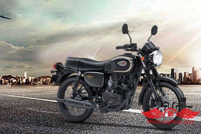 xe moto kawasaki w175 màu đen