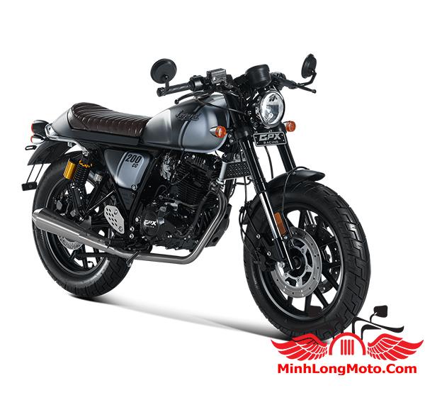 Xe GPX Legend 200 màu đen xanh