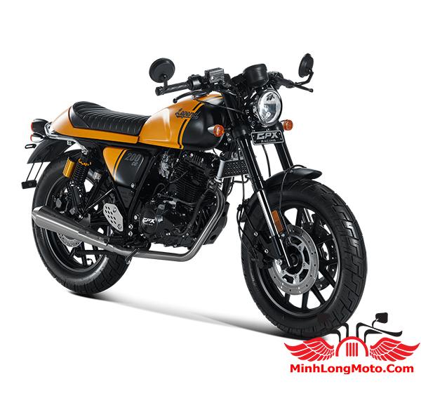 Xe GPX Legend 200 màu vàng đen