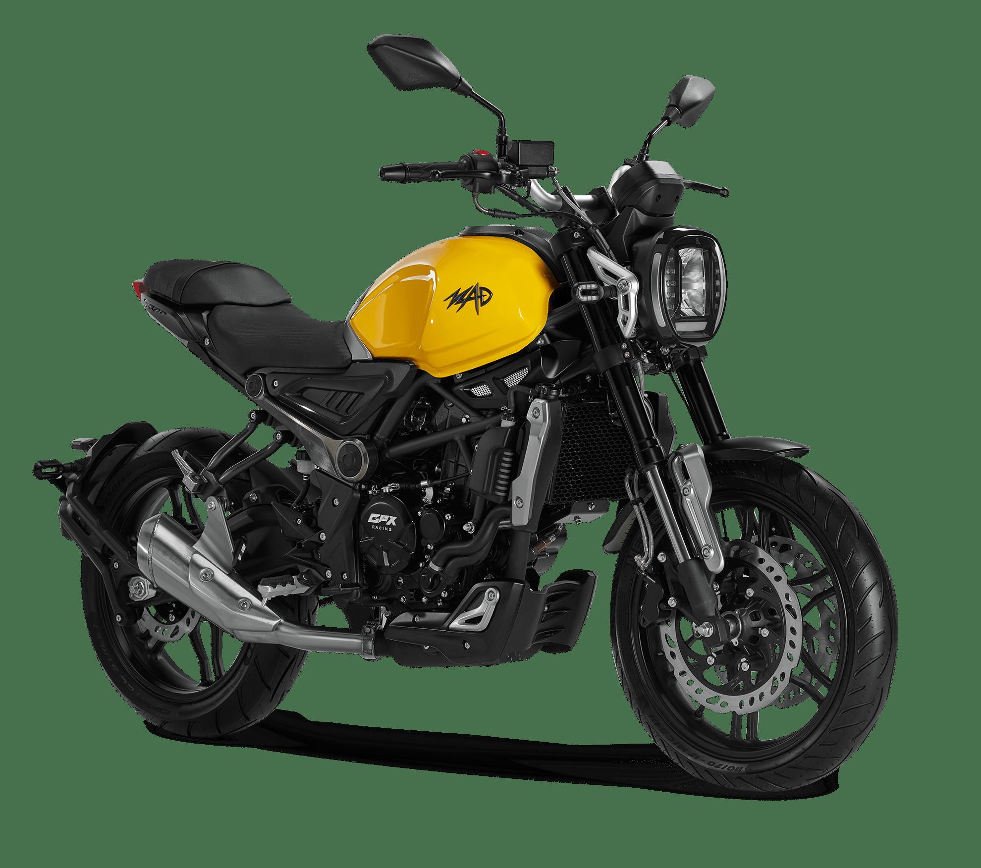 Xe moto gpx mad 300 màu vàng sẽ về VN