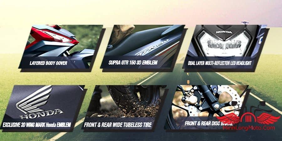 Thiết kế của Supra GTR 150 rất phù hợp với các bạn nam.