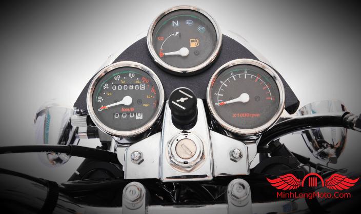 Cụm đồng hồ 3 cái của wolf classic 125