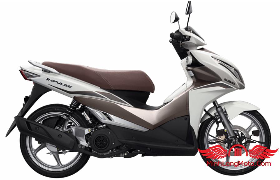 Màu Nâu trắng bạc của Suzuki Impulse 125