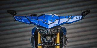Vẻ ngoài cuốn hút của mẫu Yamaha MT15 độ.