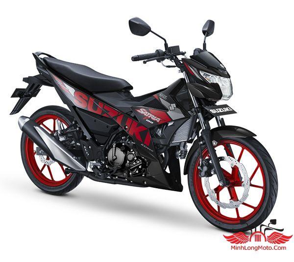 satria 150 nhập khẩu phiên bản Đen mâm đỏ