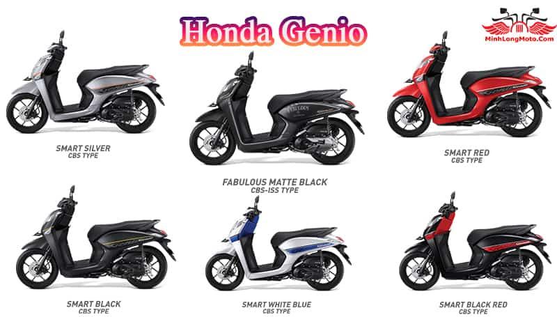 Các màu xe khác của Genio 2019