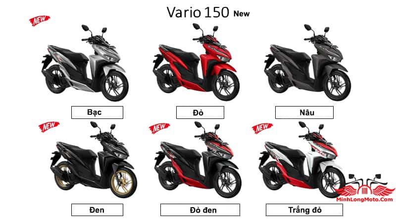 Màu mới Honda Vario 150 2021