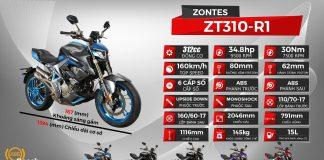 Thông số xe Zontes 310R