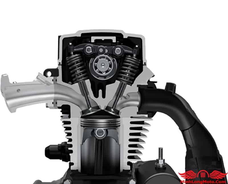Suzuki Intruder 150 sử dụng động cơ Robust 155cc với công nghệ SEP