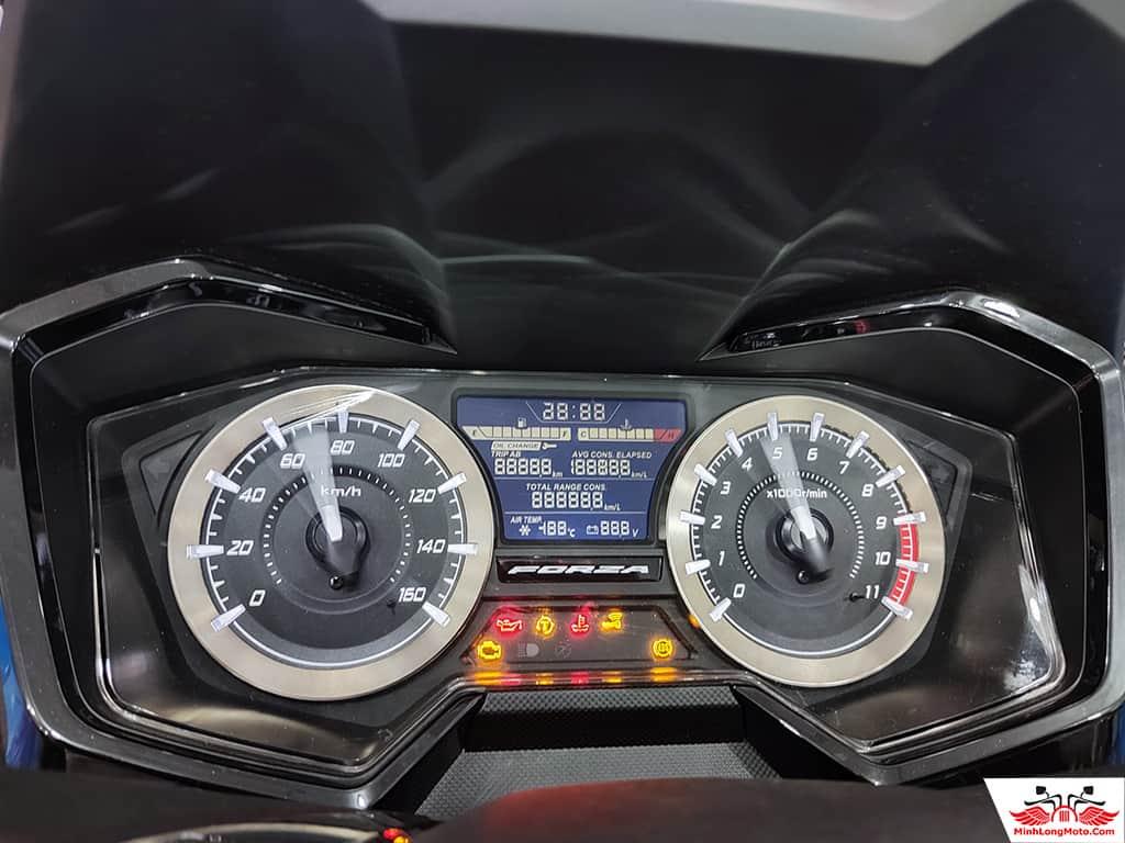 Đồng hồ hiển thị của Honda Forza 350