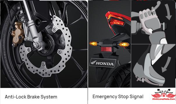 Hệ thống ESS và ABS của Honda CBR150R 2021