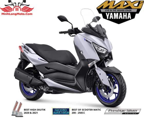 Yamaha Xmax màu bạc nhám