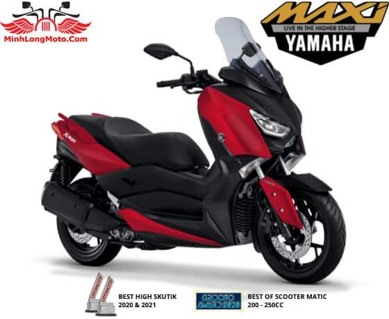 Yamaha Xmax màu đỏ nhám