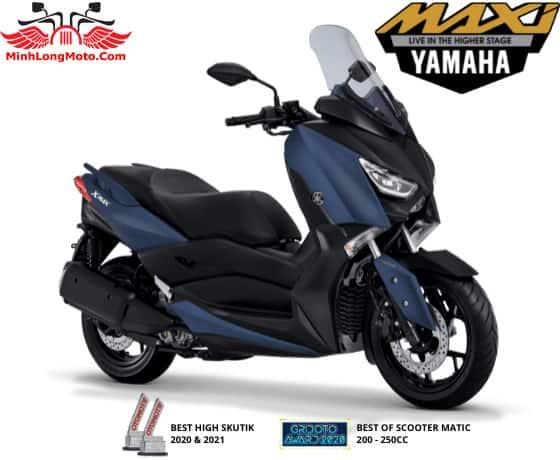 Yamaha Xmax màu xanh nhám